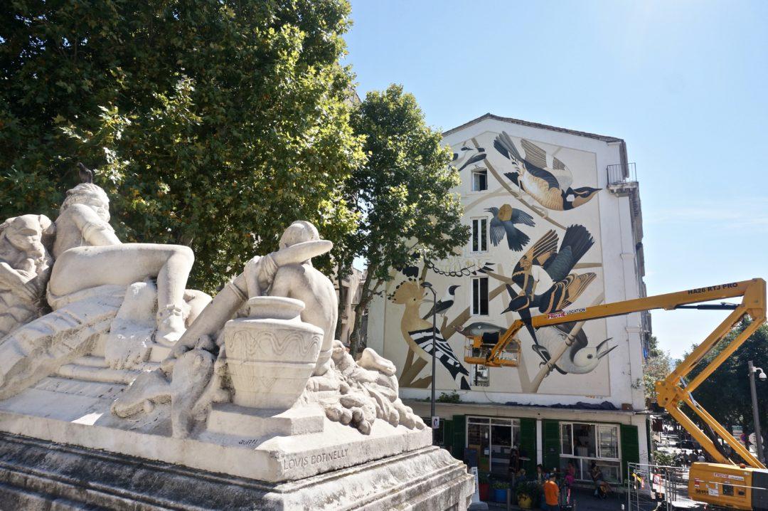 Fikos inaugure les Murs d'Audubon à Marseille avec une fresque monumentale